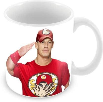 Buy Chhaap John Cena Printed Ceramic White Tea And Coffee Mug Pack 1 Online At Low Prices In India Amazon In