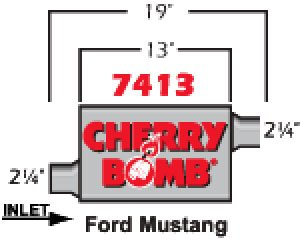 Cherry Bomb Pro Muffler - Cherry Bomb 7413 Pro Muffler