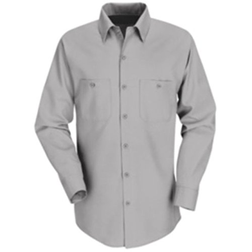 Red Kap Industrial Work Shirt, Men, Light Gray, XLNL SP14LA-XLN-L