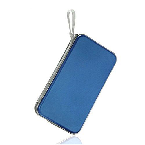 80 Capacity CD/DVD Case Wallet, Storage,Holder,Booklet (Blue) by Rekukos