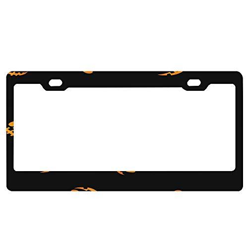 ASLGlicenseplateframeFG Silinana Glowing in The Dark Eyes Haloween Pattern Car Decor Metal License Tag Plate Cover - 12