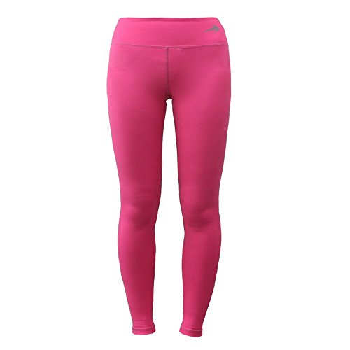 Women's Compression Pants (Pink - XL) Best Full Leggings Tights for Running, Yoga, Gym by CompressionZ