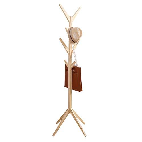 WONdere Solid Wood Coat Rack Hanger Floor Bedroom Multi-function Economy Rack Simple Standing Clothes Rack Home -