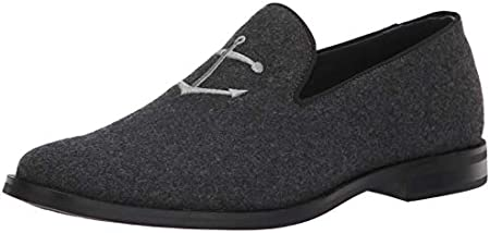 Sperry Men's Overlook Textile Smoking Slipper Loafer, Grey Wool, 11.5 M US