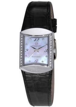 Christina Design London Damen-Armbanduhr Analog Leder schwarz 126SWBL