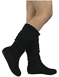 Womens & Girls Slouchy Wonda Boots Soft Flat to Low Heel...