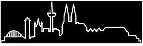 Skyline4u Skyline Silhouette Köln Aufkleber Für Auto Oder Wohnmobil In 8 Größen Und 25 Farben 100x29cm Weiß Küche Haushalt