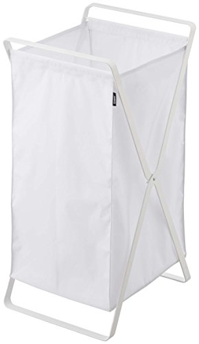 YAMAZAKI home Tower Laundry Basket White