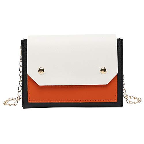 Orange Zebra Mini Backpack - CHUNKUNA Women Shoulders Mini Bag Casual Backpack Evening Messenger Bag (Orange)