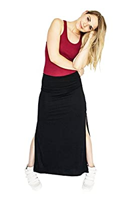 Active Basic Women's Banded Jersey Maxi Skirt