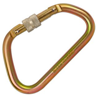 1/2'' Extra Large ''D'' Steel Carabiner Gold by Omega Pacific