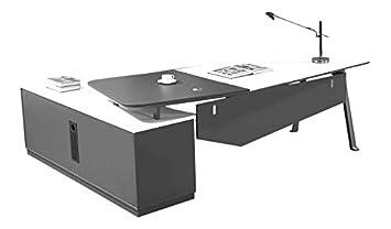 Jet Line Design Chef Schreibtisch Carolina 2 2 M In Farbe Weiss