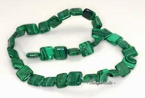 12MM Hedge Mazes Malachite Gemstone Green Perfect Square 12MM Loose Beads 15.5