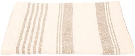 """LinenMe Linum Bath Towel, 39"""" x 59"""", Cream"""