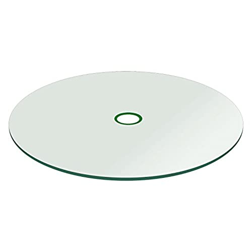 fab glass and mirror patio glass table top round thick flat tempered with 2 hole 48 l - Replacement Glass For Patio Table