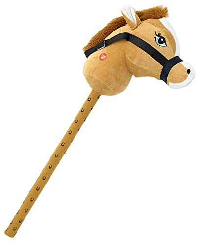 Unibos Hobby Horse with Sound Effects Kids Neighing & Galloping Hobby Stick Toy