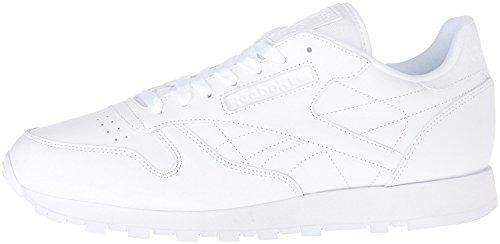 Reebok Men's Cl Lthr Fashion Sneaker, US-WHITE/White/White, 8 M US by Reebok