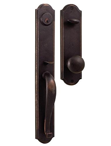 - Weslock 7685/7605-M-1 Oil Rubbed Bronze Wiltshire Dummy Handleset with Durham Knob