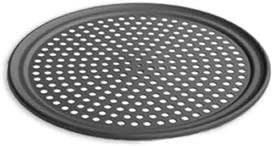 LloydPans 10 Inch Perforated Pizza Tray,Case of 12, Pre-Seasoned PSTK, Anodized Aluminum ,