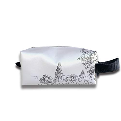 - Small Toiletry Bag Park Sketch,Pencil Case,Travel Essentials Bag,Dopp Kit Bag For Men And Women With Handle