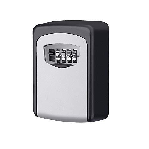 Holder Door Mount Flush Wall (Onerbuy Weather Resistant Key Storage Lock Box Wall Mount 4 Digit Combination Key Storage Box Keys Safe Holder with Resettable Code)