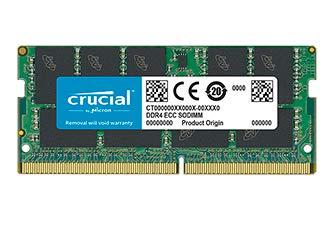 - CRUCIAL BY MICRON - DRAM Crucial 16GB DDR4 SDRAM Memory Module - 16 GB - DDR4 SDRAM - 2666 MHz DDR4-2666/PC4-21300 - 1.20 V - ECC - Unbuffered - 260-pin - SoDIMM