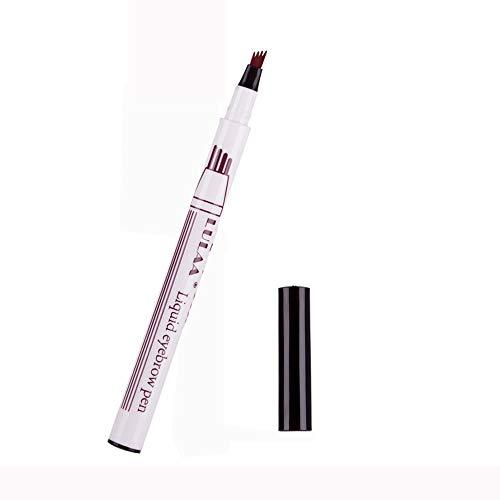- ❤️Ywoow❤️, Eyebrow Tattoo Pen Waterproof Fork Tip Sketch Makeup Pen Microblading Ink Sketch