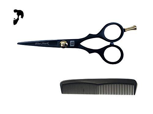 Professional Mustache Scissors, Beard Trimming Scissors Sharp Edges 5″ (13 cm) Small Scissors with Mustache Comb