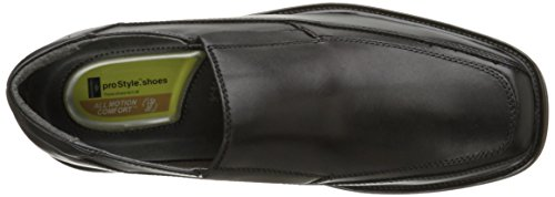 Havenarbeiders Mannen Voorstel Lederen Slip-on Loafer Shoe Zwart