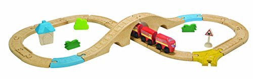 (Plan Toys City Road and Rail Railway 8 Piece Figure Set by PlanToys)