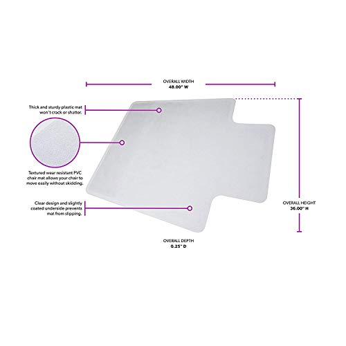 """Image of OFM ESS Collection Chair Mat with Lip for Hard Surface, 36"""""""