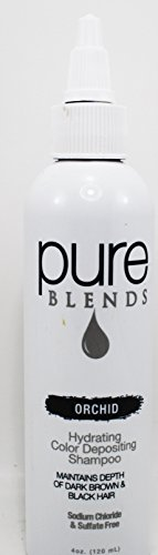 Pure Blend Orchid Hydrating Color Depositing Shampoo, 4 oz ()