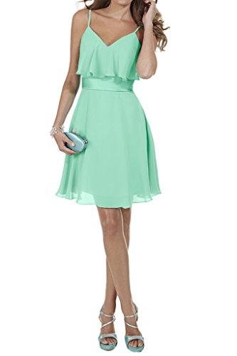 Damen Spaghetti Ivydressing Abendkleid Promkleid Sage A V Ausschnitt Ballkleid Linie T6HqH7pn