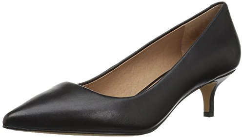 206 Collective Women's Queen Anne Kitten Heel Dress Pump Black Leather outlet recommend SiBQ3Cug