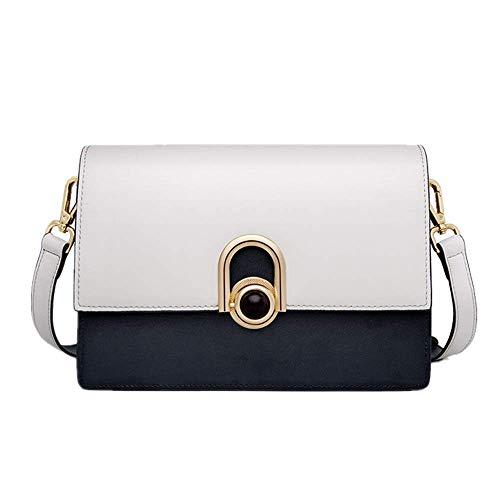 Gris Bandolera Azul Colisión Dama Rice White Moda Bolso Mini Oblicuo Color Bolsos Cuero Simple De vq1W5w4