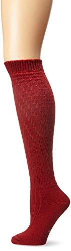 Pepper Wool - Wigwam Women's Lilly Knee High Classic Merino Wool Lightweight Boot Socks, Chili Pepper, Medium