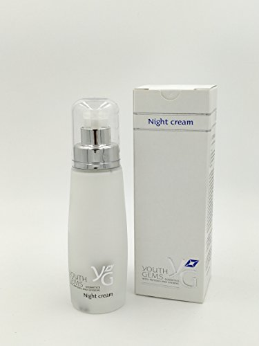 Youth Gems Night Cream - Cosmetics with Peptides and Ginseng extract