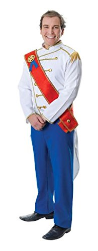 Bristol Novelty AC984 Prince Charming Costume, White, -