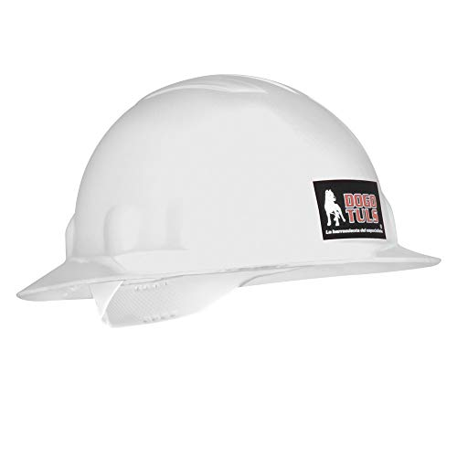 Dogotuls HM3070 Casco de Seguridad Ala Ancha, color Blanco