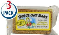 BoBo's Oat Bars Lemon Poppyseed Gluten Free -- 3 oz Each / Pack of 3 (Homemade Lemon Bars)