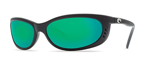 Costa Del Mar Fathom Sunglasses Matte Black/Green Mirror - Costas Fathom