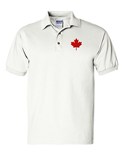 Canada Flag Seal Custom Personalized Embroidery Embroidered Golf Polo Shirt