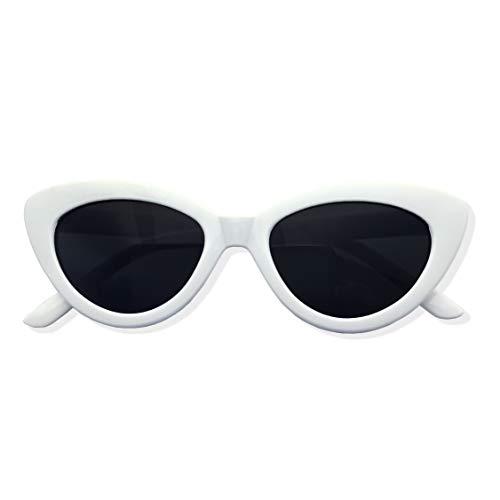 Womens White Cat Eye Retro Sunglasses - Standard Adult Women's Size