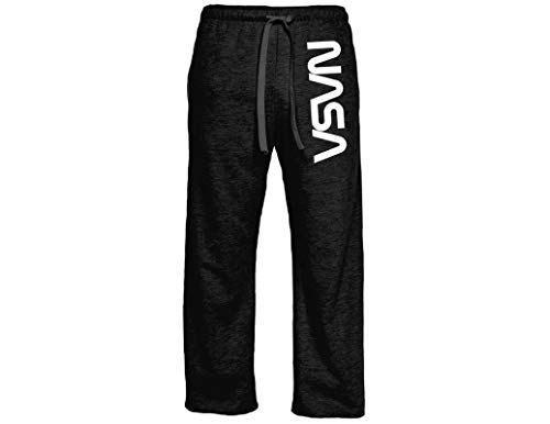 - Ripple Junction NASA Adult NASA Worm Logo Light Weight Pocket Lounge Pants MD Heather Charcoal