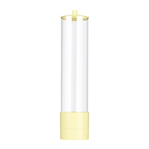 Cup Dispenser Large Pull Type Water Cup Dispenser Plastic Paper Cup  Dispenser for 50 Cups(Yellow)