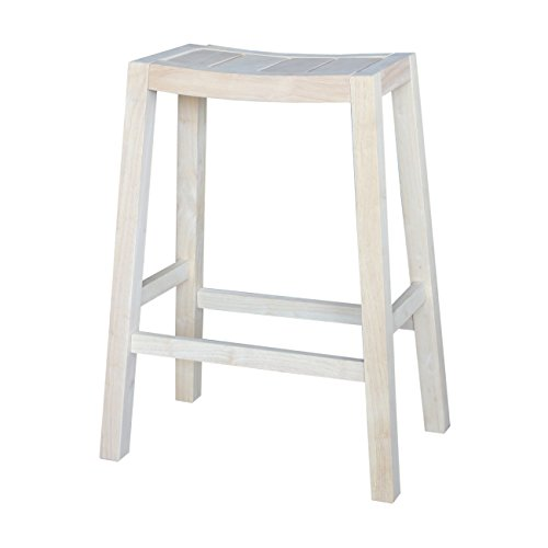 International Concepts Ranch Stool, 30-Inch, Ready to Finish ()