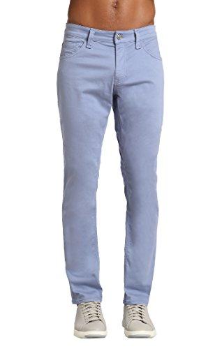 Washed Straight Leg Jeans - Mavi Men's Zach Regular-Rise Straight-Leg Jeans, Stone Washed Twill, 40W x 30L