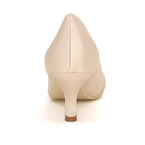 L@YC Women'S High Heels Comfortable Wedding Shoes Fine With Satin Party Wedding Color Multi-Color Code Silver MioFn