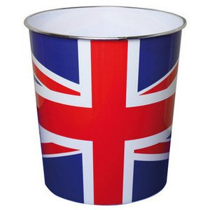 JVL 25 x 26.5 cm Novelty Union Jack Flag Waste Paper Bin