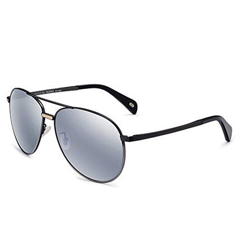 nouvelles soleil réfléchissants Film soleil hommes de lunettes couleur rond de lunettes polarisées femmes D visage et verres qTFzq
